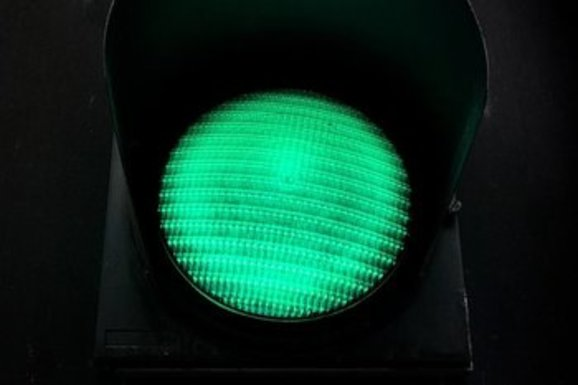 Slider green light
