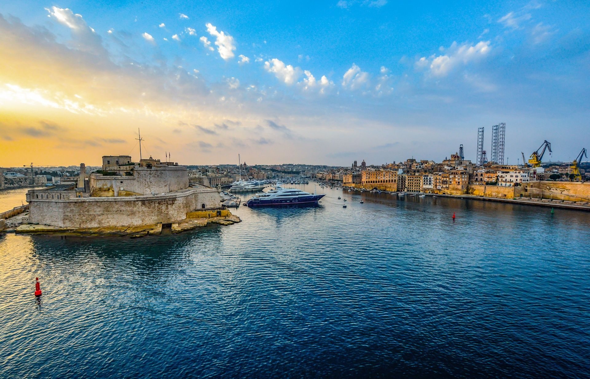 Ships in malta harbor
