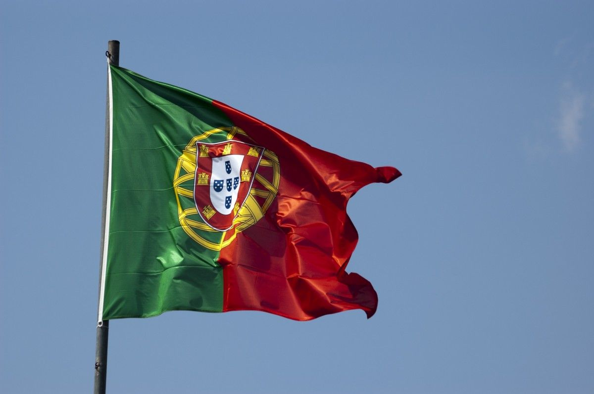 Flag portuguesa portugal sky blue blue sky wind day 851320