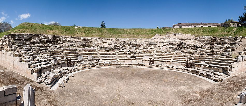 A  ancient theatre