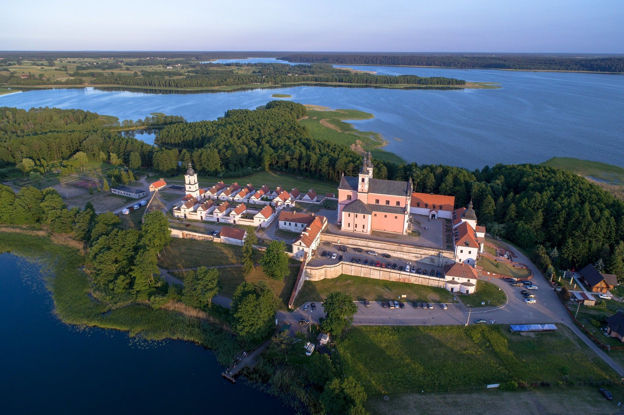 Poland  wigry monastery near suwalki  north east poland air. mariusz cieszewski