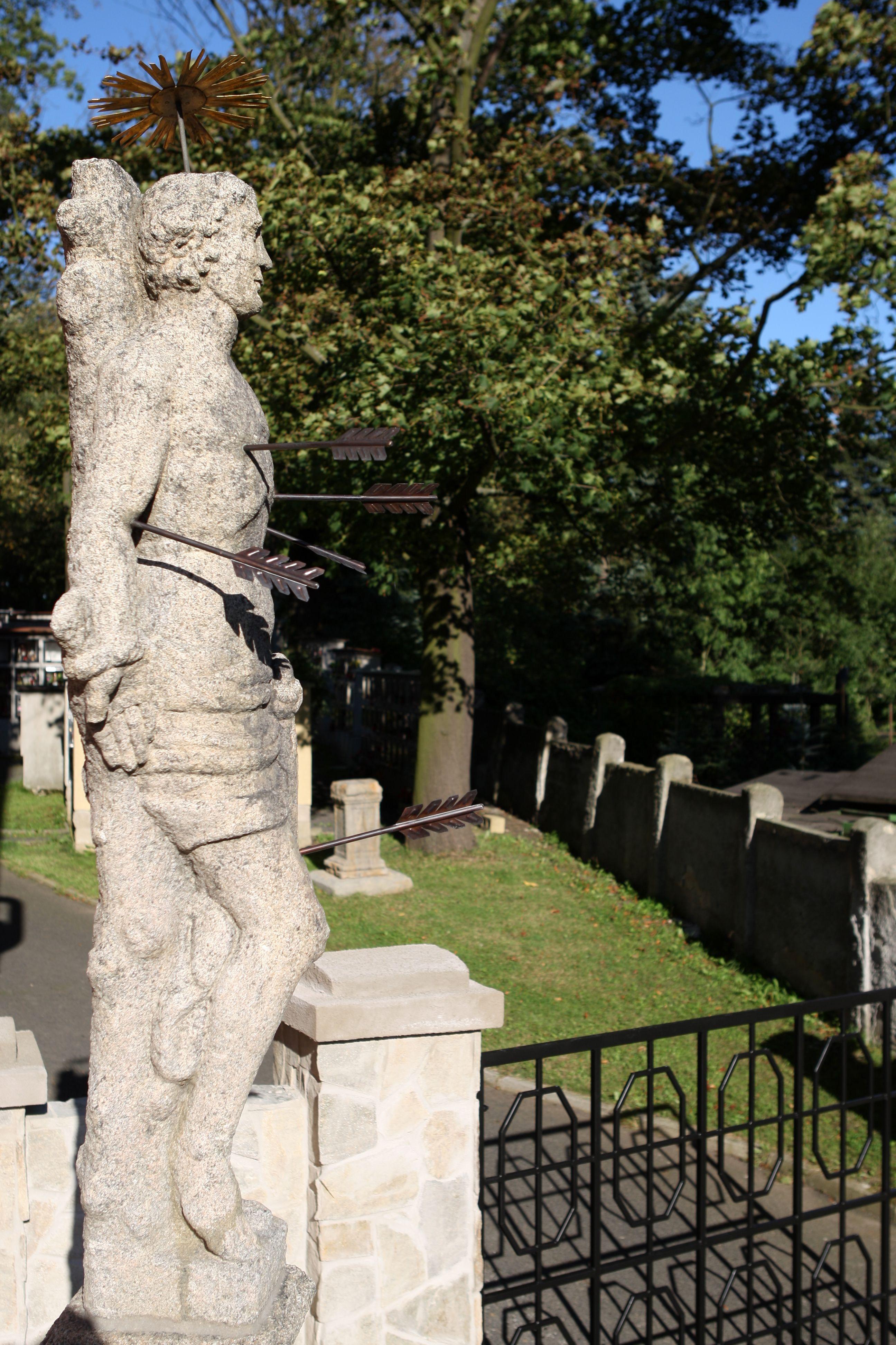 Statue of st. sebastian chodov