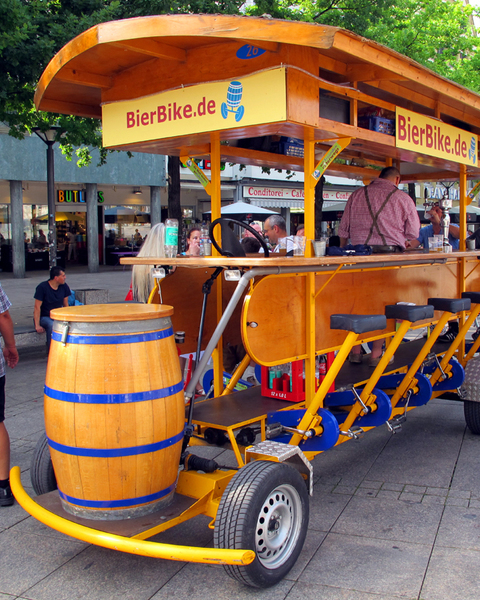 Beer bike ulm germany img 5911s