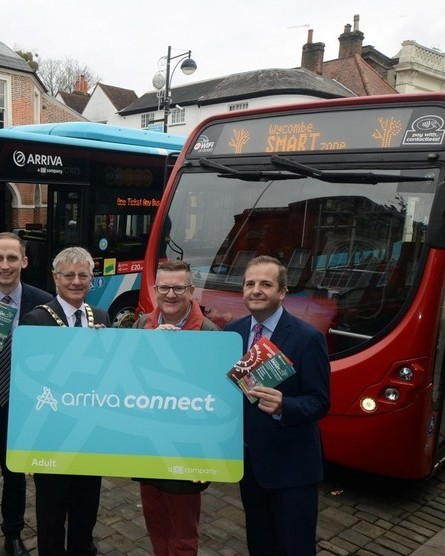 A smartzone for buses in high wycombe