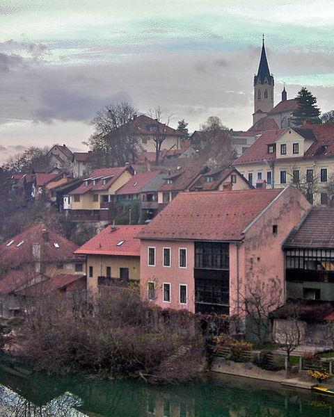 Novo mesto slovenia hillside