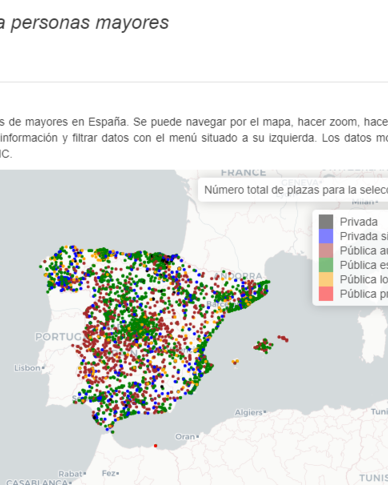 Tech friendly nursing homes spain map