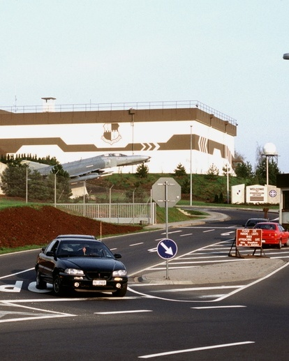 Spangdahlem air base main gate in 1998