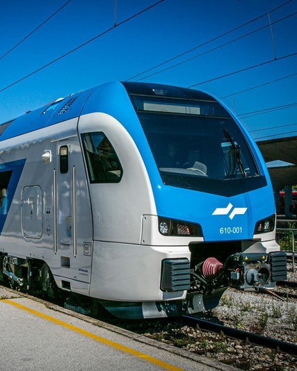Stadler train by slovenian railways