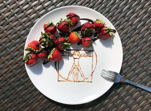 Medium vitruviansky muz jahody