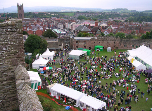 Medium ludlow food festival 2005 from castle