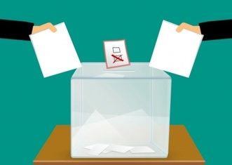 Thumb vote voting voting ballot box