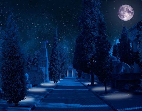 Medium cementerio civil imagen nocturna