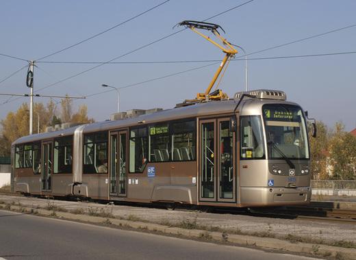 Medium low floor double articulated tram by dpo.cz
