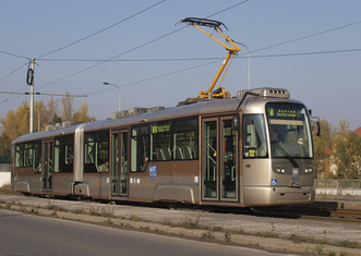 Thumb low floor double articulated tram by dpo.cz
