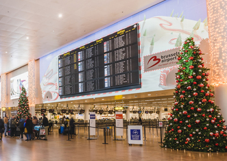 Thumb brusselsairport christmas2019 departurehall 503742   brussels airport company