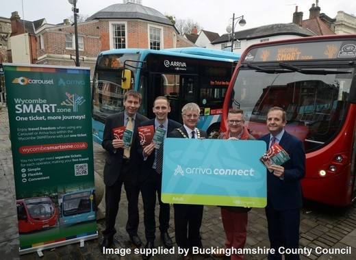 Medium a smartzone for buses in high wycombe