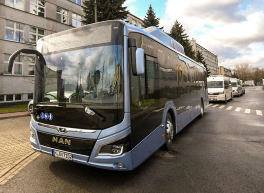 Medium new eco buses in krakow