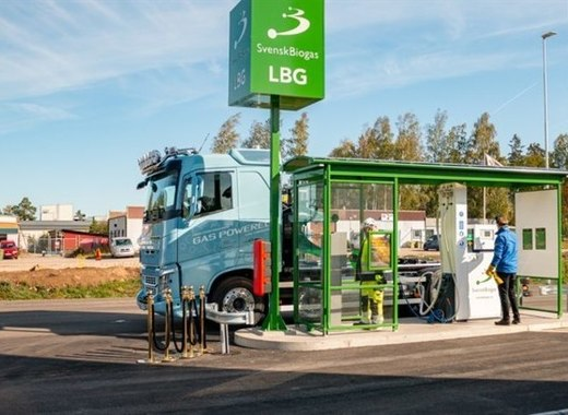 Medium new renewable fuel station for transport in link%c3%b6ping