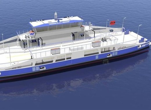 Medium impression of the new electric north sea canal ferry  c job naval architects