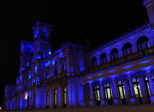Medium san sebastian city hall in blue