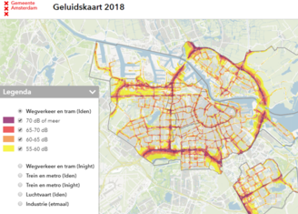 Thumb sound map of amsterdam 2018