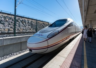 Thumb high speed spanish train