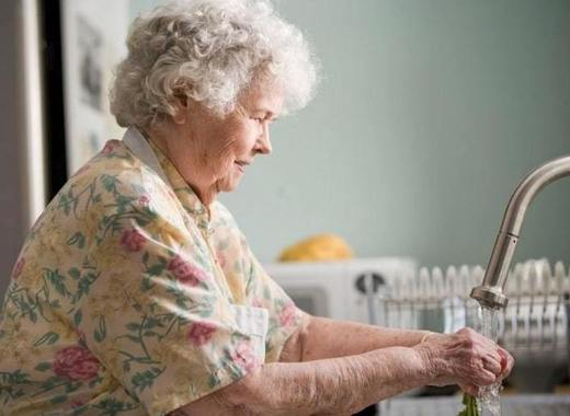 Medium elderly woman