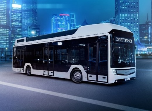 Medium caetano fuel cell bus