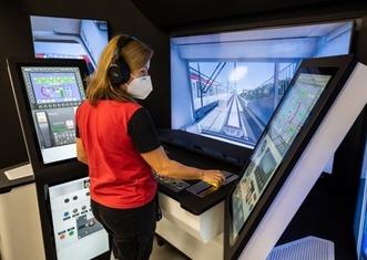 Thumb metro train simulator