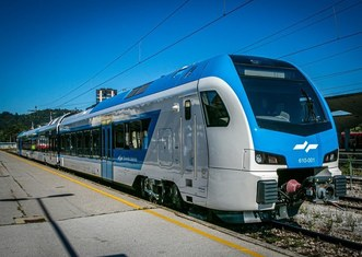 Thumb stadler train by slovenian railways