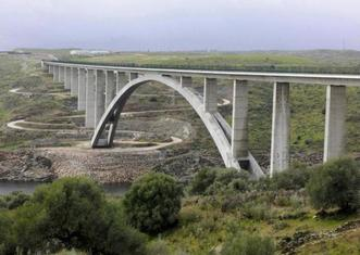 Thumb high speed railway line in spain