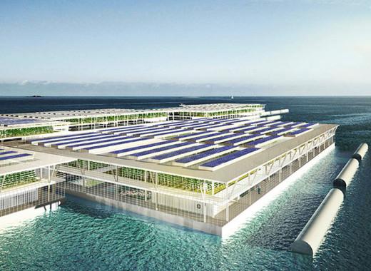 Medium solar powered floating farms 1