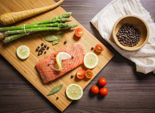 Medium food foodie bake salmon fish citrus vegetables asparagus 869031