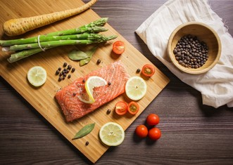 Thumb food foodie bake salmon fish citrus vegetables asparagus 869031