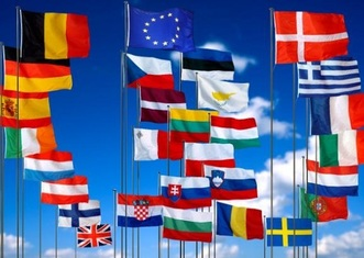 Thumb the flags of the eu and member states