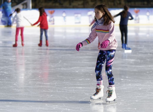Medium ice skating