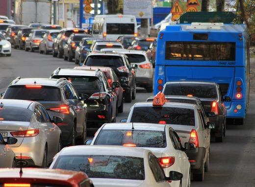 Medium traffic jam