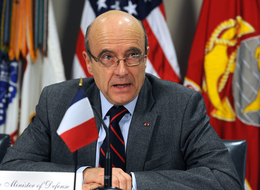 Medium defense.gov news photo 110208 d 9880w 170   french minister of defense alain juppe responds to a reporter s question during a joint media availability in the pentagon with secretary of