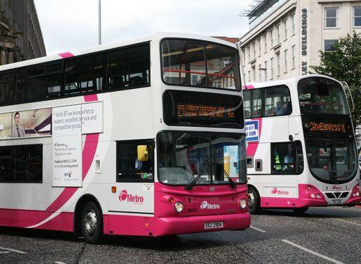 Medium metro belfast double decker buses 2904 and 2351  belfast  19 june 2009