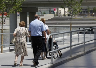 Thumb wheelchair friendly city