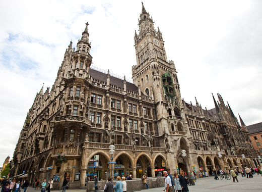 Medium new town hall munich germany