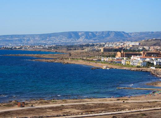 Medium coastal town landscape in cyprus