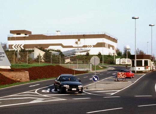 Medium spangdahlem air base main gate in 1998