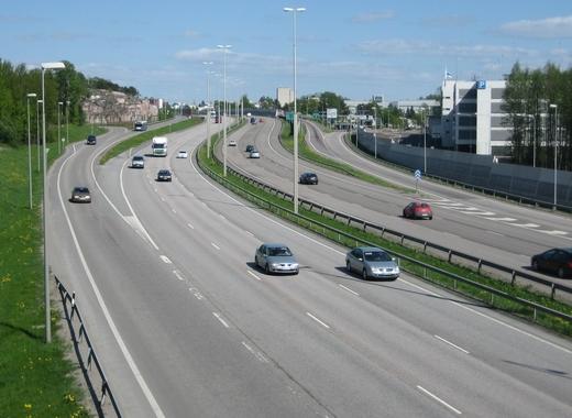 Medium motorway 4 in helsinki finland