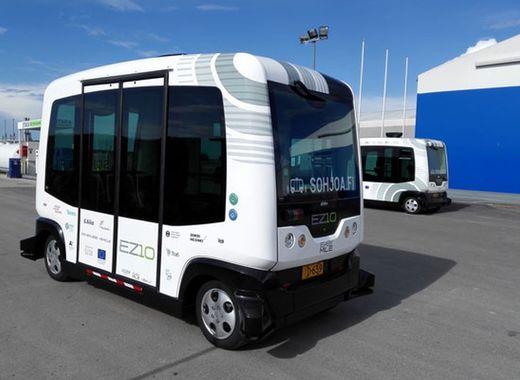 Medium self driving bus vehicles finland helsinki transportation 1.0